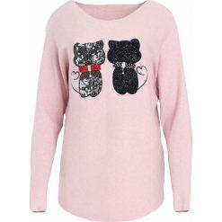 Swetry klasyczne damskie: Jasnoróżowy Sweter See Us