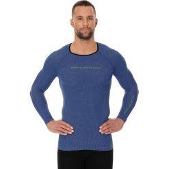 Koszulki sportowe męskie: Brubeck Koszulka męska 3D Run PRO z długim rękawem granatowa r. XL (LS13000)