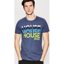 T-shirty męskie: T-shirt z nadrukiem Niebieski
