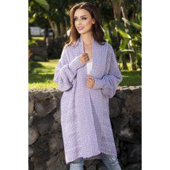 Sweter oversize multikolor ls206. Niebieskie kardigany damskie marki SaF, na co dzień, xl, z żakardem, z asymetrycznym kołnierzem, dopasowane. W wyprzedaży za 119,00 zł.
