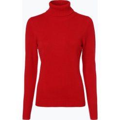 Franco Callegari - Damski sweter z wełny merino, czerwony. Zielone golfy damskie marki Franco Callegari, z napisami. Za 229,95 zł.