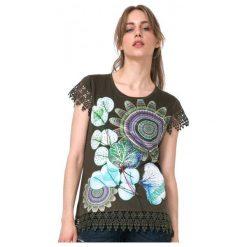 Desigual T-Shirt Damski L Khaki. Brązowe t-shirty damskie Desigual, l. W wyprzedaży za 139,00 zł.