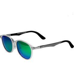 """Okulary przeciwsłoneczne męskie: Okulary męskie """"Cetus"""" w kolorze srebrno-niebiesko-zielonym"""