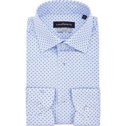 Koszula Biała Melfi. Białe koszule męskie na spinki LANCERTO, m, z haftami, z bawełny, z klasycznym kołnierzykiem. Za 299,90 zł.