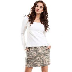 Spódnica Mini z Nadrukiem Moro Model 3. Szare minispódniczki Molly.pl, l, moro, z dzianiny, biznesowe. Za 59,90 zł.