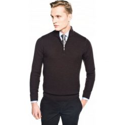 Sweter miret troyer brąz. Szare swetry klasyczne męskie marki Recman, m, z kołnierzem typu troyer. Za 259,00 zł.
