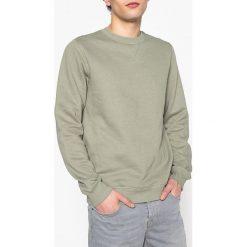 Bluza, okrągły dekolt. Szare bluzy męskie z kołnierzem marki La Redoute Collections, m, z bawełny. Za 70,52 zł.