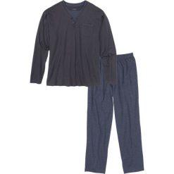 Bielizna męska: Piżama bonprix niebieski nocny – niebieski melanż