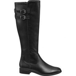 Kozaki damskie Graceland czarne. Czarne buty zimowe damskie marki Graceland, z materiału, na obcasie. Za 159,90 zł.