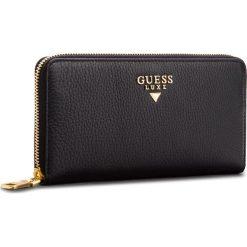 Duży Portfel Damski GUESS - SWDELU L8146 BLA. Czarne portfele damskie Guess, ze skóry. Za 519,00 zł.