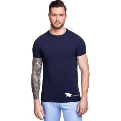 T-shirt NICODEMO TSGS000015. Szare t-shirty męskie Giacomo Conti, m, z aplikacjami, z bawełny, z kontrastowym kołnierzykiem. Za 79,00 zł.