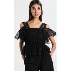 Bluzki asymetryczne: Navy London FLEUR Bluzka black
