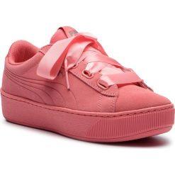 Sneakersy PUMA - Vikky Platform Ribbon S 366418 03 Shell Pink/Shell Pink. Czerwone sneakersy damskie Puma, z materiału. W wyprzedaży za 189,00 zł.