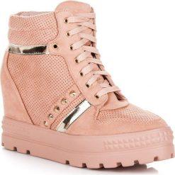 Sneakersy damskie: SNEAKERSY NA PLATFORMIE Bestelle różowe