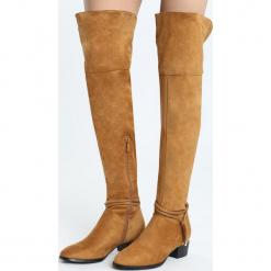Camelowe Kozaki Where One. Brązowe buty zimowe damskie marki NEWFEEL, z gumy. Za 139,99 zł.