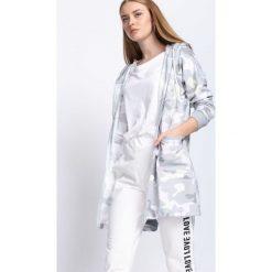 Szara-Moro Bluza Around The World. Szare bluzy rozpinane damskie marki Born2be, l, moro, z długim rękawem, długie. Za 69,99 zł.
