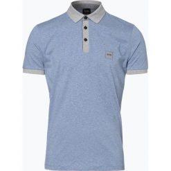 Koszulki polo: BOSS Casual – Męska koszulka polo – Pother, niebieski
