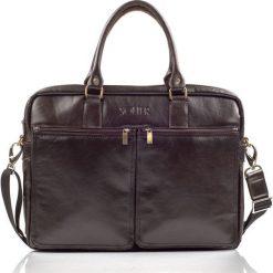 Męska torba ze skóry na ramię, laptopa ROYAL brąz. Czarne torby na ramię męskie marki Solier, w paski, z bawełny. Za 529,00 zł.