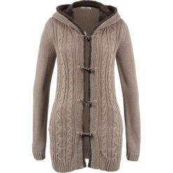 Sweter rozpinany z guzikami kołkami bonprix brunatny. Brązowe kardigany damskie marki bonprix. Za 149,99 zł.