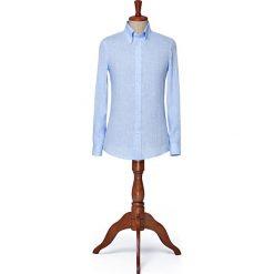 Koszula Niebieska Rush. Niebieskie koszule męskie na spinki LANCERTO, na lato, m, ze lnu, button down. W wyprzedaży za 199,00 zł.
