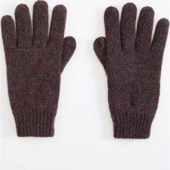 Rękawiczki - Bordowy. Białe rękawiczki męskie marki Reserved, l, z dzianiny. Za 39,99 zł.