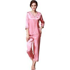 Piżamy damskie: 2-częściowa piżama w kolorze koralowym