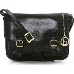 Torebki klasyczne damskie: Skórzana torebka w kolorze czarnym – 26 x 19 x 12 cm