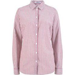 Bluzka, długi rękaw bonprix bordowo-biel wełny w paski. Czerwone bluzki longsleeves marki bonprix, w paski, z wełny. Za 54,99 zł.