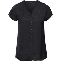 Bluzki asymetryczne: Bluzka, krótki rękaw bonprix czarny