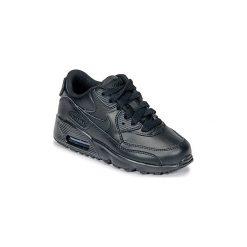 Buty Dziecko Nike  AIR MAX 90 LEATHER PRE-SCHOOL. Czarne trampki chłopięce Nike. Za 329,00 zł.