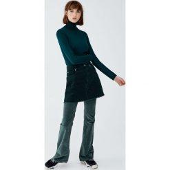 Sweter z golfem basic. Szare golfy damskie Pull&Bear. Za 59,90 zł.