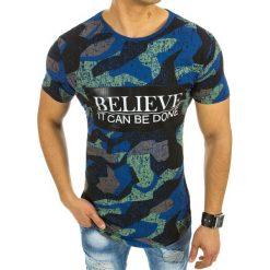 T-shirty męskie z nadrukiem: T-shirt męski z nadrukiem niebieski (rx2059)