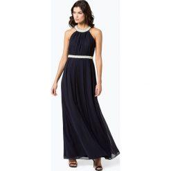 Marie Lund - Damska sukienka wieczorowa, niebieski. Niebieskie sukienki balowe Marie Lund, z aplikacjami, z szyfonu. Za 899,95 zł.