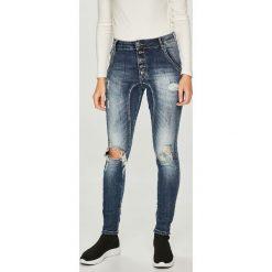 Answear - Jeansy. Niebieskie jeansy damskie rurki ANSWEAR, z bawełny. W wyprzedaży za 99,90 zł.