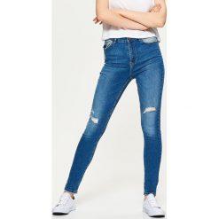Jeansy męskie regular: Jeansy slim fit - Niebieski
