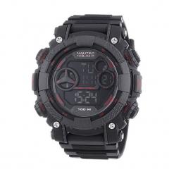 """Zegarek """"AKQZDPCRDPCBKBKRD"""" w kolorze czarnym. Czarne, cyfrowe zegarki męskie Dugena & Nautec No Limit, sztuczne. W wyprzedaży za 219,95 zł."""