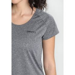 Craft EAZE TEE Tshirt basic black melange. Czarne topy sportowe damskie marki Craft, m. Za 129,00 zł.