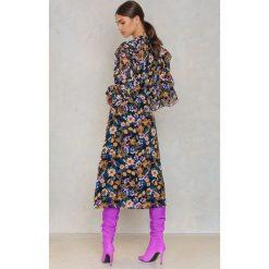 Długie sukienki: Gestuz Sukienka długa Fally - Black,Multicolor