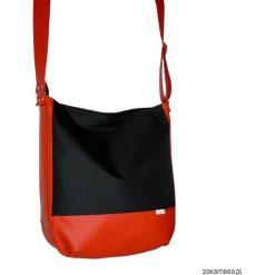 Shopper bag damskie: 5730 ankate, duża czarna torba, czarny worek