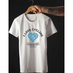 Koszulka T-SHIRT. I love cycling. Czarne t-shirty męskie z nadrukiem marki Pakamera, m, z kapturem. Za 85,00 zł.