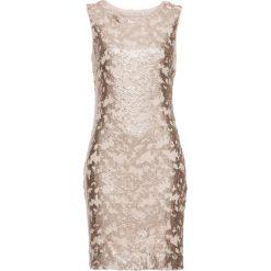 Sukienki: Sukienka z cekinami bonprix złoty