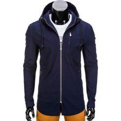 KURTKA MĘSKA PRZEJŚCIOWA PARKA C311 - GRANATOWA. Niebieskie parki męskie Ombre Clothing, m, z bawełny. Za 99,00 zł.