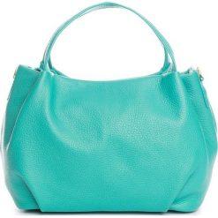 Torebki klasyczne damskie: Skórzana torebka w kolorze turkusowym – 28 x 25 x 18 cm