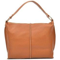 Torebki i plecaki damskie: Skórzana torebka w kolorze jasnobrązowym – (S)44 x (W)26 x (G)13 cm
