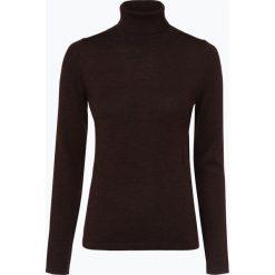 Brookshire - Sweter damski z domieszką wełny merino, brązowy. Czarne swetry klasyczne damskie marki brookshire, m, w paski, z dżerseju. Za 179,95 zł.