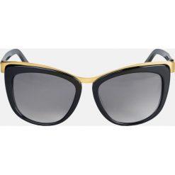 Czarne okulary przeciwsłoneczne. Czarne okulary przeciwsłoneczne damskie aviatory Kazar, owalne. Za 399,00 zł.