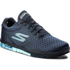 Buty SKECHERS - Go Mini Flex 14006/NVY Navy. Niebieskie buty do fitnessu damskie Skechers, z materiału. W wyprzedaży za 179,00 zł.