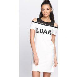 Biała Sukienka LDAR. Białe sukienki letnie marki Born2be, l. Za 49,99 zł.