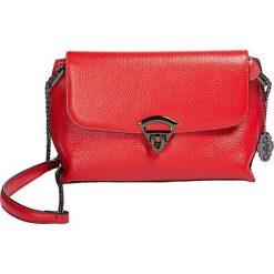 """Torebki klasyczne damskie: Skórzana torebka """"Rio"""" w kolorze czerwonym - 24 x 18 x 8 cm"""