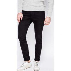 Review - Jeansy. Czarne jeansy męskie skinny Review, z aplikacjami, z bawełny. W wyprzedaży za 139,90 zł.